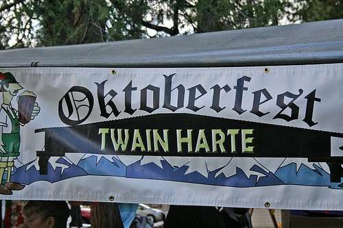 Oktoberfest at Eproson Park in Twain Harte California