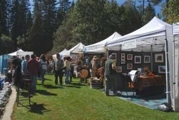 Annual Summer Arts And Wine Festival In Twain Harte California
