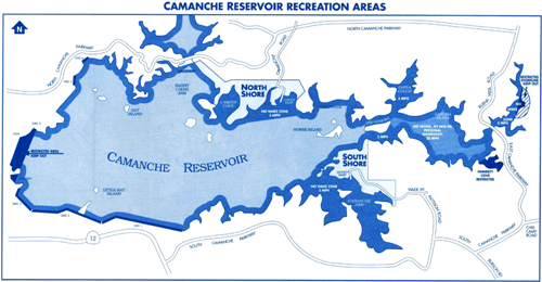 Lake Camanche Map